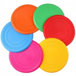Keecao Children's Frisbee, Outdoor Lawn Toys.6 Colors 7 inches in Diameter Soft Silica Gel Frisbee, Kindergarten Teaching, Environmental Protection, Durable.