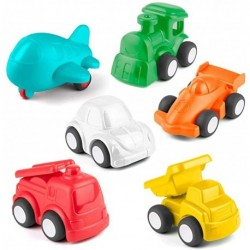 Celket Baby Toy Car for 2 Year Old, 6 Pack Car Toy Vehicle for Baby Boy Girl, Color Learning | Role-Play Fun Push and Go Car Toy Gift for 18M+, Educational Baby Toy Free-Wheel Cognitive Vehicle