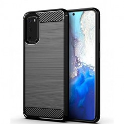 WEGOWI Case for Samsung Galaxy S20 Phone,Galaxy S20 Case 6.2 Inch,TPU Shock Absorption Technology Full Protective Case Carbon Fiber Cover for Galaxy S20 Smartphone (Black)