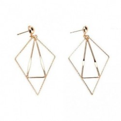 LPRECO Geometric Triangle Earring Metal Simple Drop Dangle Earrings Gold Bohemian Dangling Costume Earring For Women Girls Prom Birthday Party Gift Fashion Jewelry (gold)