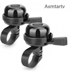 Axmtartv 2pcs Superior Bike Bell, Brass Bicycle Bell, Clear Noticeable Sound Bike Bells for Adults