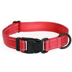 Cacacar Reflective Lockable Nylon Dog Collar Small Medium Large Sizes