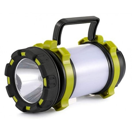ldeguk  Rechargeable Camping Lantern Flashlight, LED with 6 Modes, 3600mAh Power Bank, IPX4 Waterproof, Two Way Hook, Portable with USB Cable for Emergency