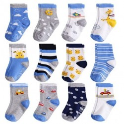 OMNPAK Non Slip Infant&Toddler Socks with Grips, Anti Skid Baby Socks for Boys&Girls