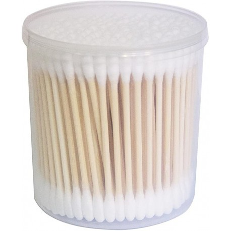 Eptek Bamboo Stick Cotton Swab 1200 PCS (6 Packs) - Medical Cotton swabs - Cotton Swabs Double Tipped Cleaning Swab, high Quality Absorbent Cotton - Safe, high Absorbency and Hygiene