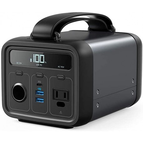 Aogier Powerhouse 200, 213Wh/57600mAh Portable Rechargeable Generator Clean & Silent 110V AC Outlet/USB-C Power Delivery/USB/12V Car Outlets, for Fast Charging, Camping, Emergencies, CPAP, and More