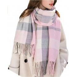 UFLYAY Women's Fashion Scarves Long Shawl Winter Thick Warm Knit Large Plaid Scarf