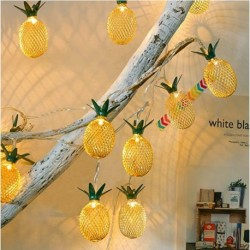 UETGRE 2 Packs Pineapple String Lights LED Battery Operated Fairy String Lights