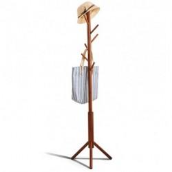 EPGURN Premium Bamboo Coat Rack Tree with 8 Hooks, 3 Adjustable Sizes Free Standing Wooden Coat Rack