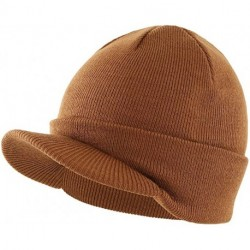 HYOUDP Mens Winter Beanie Hat with Double Knit Cuff Beanie Cap