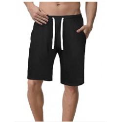 AOUBAS Men's Cotton Shorts Lounge Pajama Shorts Activewear Short with Drawstring