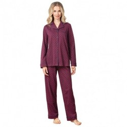 GZREKU Pajama Set for Women - Cotton Jersey Pajamas Women
