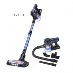 EZT3D Cordless Vacuum Cleaner, Upgraded 24000pa Stick Vacuum 5 in 1 with 250W Powerful Brushless Motor, Detachable Battery Lightweight Quiet for Deep Cleaning H251