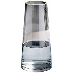 JDTTOZ Glass Flower Vase,Ins Modern Crystal Clear Glass Vase for Table,Centerpieces,Kitchen,Office,Living Room,Wedding Decoration(Crystal Gray)