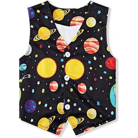 Wuliynin Fleece Vest for Kids Casual Buttons V Collar Lightweight Youth Kids Suit Vest Waistcoats 4-12 Years