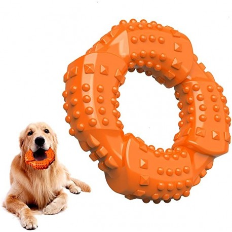 ACAVEROA Dog Chew Toys , Non-Toxic Natural Rubber Dog Toys - Fun to Chew, Chase and Fetch