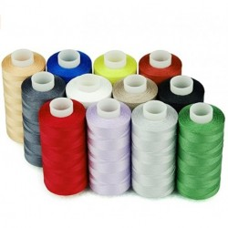 cedrorana 100% Cotton Thread Sets 12 Multi Colors Sewing Thread