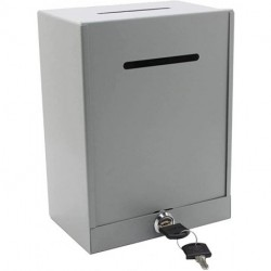 Bliboo Classic Metal Box,Donation Box,Secure Collection Box,Ticket Box,Easy Wall Mount