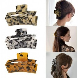 BeLucky 3PCS Hair Claw Clips,Leopard Print Tortoise Barrettes Banana Claw Clips