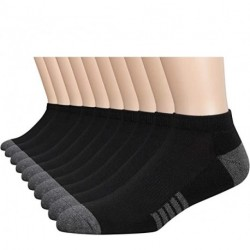 HYzgb 10 Pairs Mens Ankle Socks Low Cut Athletic Cushioned Casual Socks 10 Pack