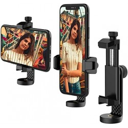 BOLOVG Cell Phone Tripod Mount Adapter,  Universal Smartphone Tripod Mount with Cold Shoe, 360°Rotatable Phone Holder, fits Tripod, Monopod & Selfie Stick, Compatible with iPhone, Samsung & All Phones