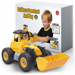 Yellow River Bulldozer Toy, Take Apart STEM Fun with Screwdriver, Ages 3 4 5 and up, Construction Tractor Truck Engineering Vehicle, Building Play Set for Boys Girls Toddlers