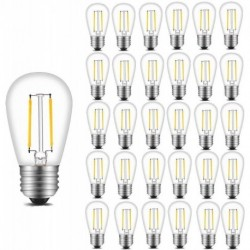 BWEALT Vintage S14 LED Light Bulbs, 2W 200 Lumens 2700K Warm White Waterproof Dimmable Bulb Great for Outdoor String Lights, 30 Pack