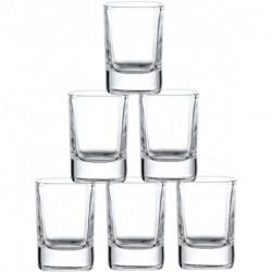 GJBKSN 6-Pack Heavy Base Shot Glass Set, 2-Ounce Shot Glasses