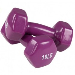 Dilrba Vinyl Dumbbell Weight Pair, Set of 2