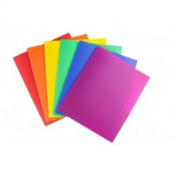SIDHGN Colored Pocket Folders, 2-Pocket File Folders (6 Pack, Colorful) School Folders, Plastic Folders with Labels, Two Pocket Folders, Letter Size File Folders with Pockets, Colored File Folders