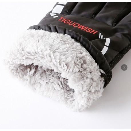 TIGUOWISH Winter Warm Touchscreen for Men and Women Touch Screen Fleece Lined Knit Anti-Slip Wool