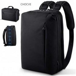 CHOCVE Convertible Backpack Laptop Shoulder Bag Messenger Bag Multi-Functional Business Briefcase Handbag Travel Rucksack Fits 15.6 Inch Laptop for Men/Women
