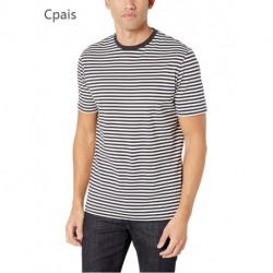 Cpais  Men's 2-Pack Slim-Fit Short-Sleeve Crewneck Stripe T-Shirt