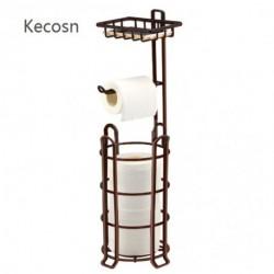 Kecosn Toilet Paper Holder Toilet Paper Stand 4 Raised Feet Bathroom Accessories Portable Tissue Paper Dispenser Reserve Free Standing Toilet Paper Roll Storage Shelf