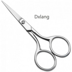 """Dxlang Small Precision Embroidery Scissors, 4"""" Forged Stainless Steel Sharp Pointed Tip Detail Shears for DIY Craft Thread Cutting, Needlework Yarn & Sewing"""