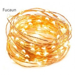 Fucaun  LED String Lights 33 ft with 100 LEDs, Waterproof Decorative Lights for Bedroom, Patio, Parties (Copper Wire Lights, Warm White)
