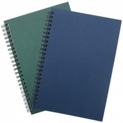 Welldaye Soft Cover Spiral Notebook Journal 2-Pack (A5)120 Pages (60 Sheets), Blank Sketch Book Pad Notebook Journal A5 Notebook Diary Notebook Notepads,120Pages/ 60 Sheets (Blank 2pcs-Blue+Green)