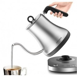 ATOKEE  Electric Kettle with Temperature Control, Pour Over Kettle 304 Stainless Steel Tea & Coffee Gooseneck Kettle 0.8L, 1000 Watt Quick Heating