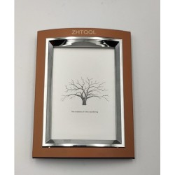 ZHTQQL Picture Frame, Rustic Brown Photo Frame with High Definition Glass for Wall & Tabletop Display
