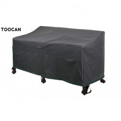 """TOOCAN Heavy Duty Patio Deep Bench Loveseat Cover Waterproof Outdoor Sofa Cover Lawn Patio Furniture Covers with Air Vents, Dark Grey (58"""" Lx 32.5"""" D x 31"""" H, Grey)"""