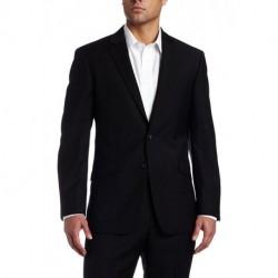 Men's Black-Solid Suit Separate Jacket[sample]