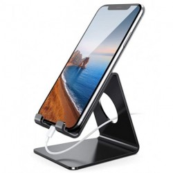 GONAXJQ   Cell Phone Stand, Phone Dock: Cradle, Holder, Stand for Office Desk, All Android Smartphones Charging - Black