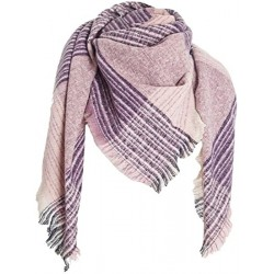 Wowlala Womens Warm Scarf Square Shawls Infinity Scarves Stripe Plaid Surface