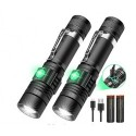 MEOWDZ LED Tactical Flashlight Rechargeable (Battery Included), IPX6 Waterproof Flashlight, 1200lm, Super Bright LED, Zoomable, Pocket-size Small LED Flashlight for Hiking, Camping, Emergency