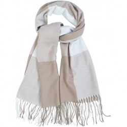 UCTRBV Winter Scarfs for Women Warm Thick Plaid Blanket Scarf Soft Feel Classic Fashion Shawl with Long Tassels