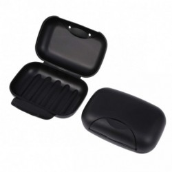 Wokic Soap Case 2Pcs Travel Soap Box Sealing Waterproof Soap Dish Holder for Men Women Home Bathroom Shower Travel (Black)